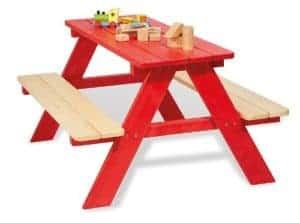Kinderpicknicktisch rot