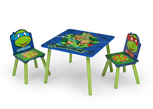 ninja turtles tisch und st hle f r kinder. Black Bedroom Furniture Sets. Home Design Ideas