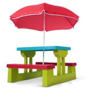 Kindersitzgarnitur Garten mit Sonnenschirm