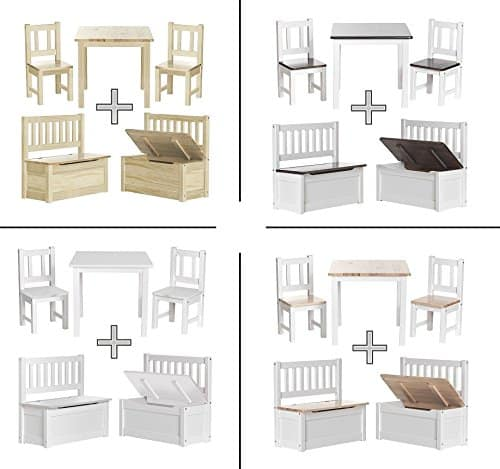 kindersitzgruppe mit truhenbank inkl deckelbremse anni. Black Bedroom Furniture Sets. Home Design Ideas
