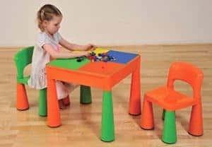 Sitzgruppe Kind Kunststoff - Legoplatte