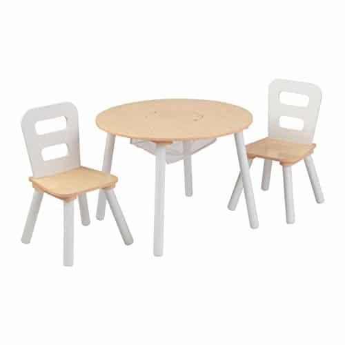 Kindertisch Mit Stuhlen Kidkraft 27027 Rund Mit Staunetz