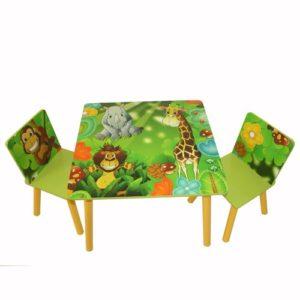 Kindersitzgruppe - Tiere - Löwe,Affe,Giraffe,Elefant