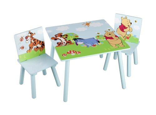 winnie pooh kindertisch und st hle. Black Bedroom Furniture Sets. Home Design Ideas