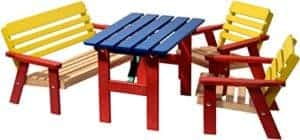 Kindersitzgruppe Garten und Zimmer