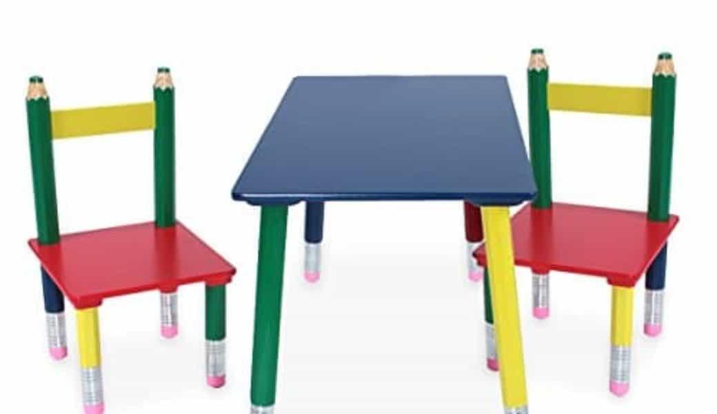 Kindersitzgruppe Holz Bleistift- Kindermöbel