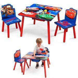 Kindertisch und Stühle CARS