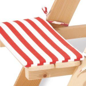 Pinolino 206040 - Nicki Polsterauflagen für 4, 2-tlg., Farbe: rot/weiß