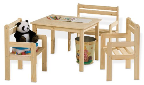 kindersitzgruppe mit sitzbank massivholz kindersitzgruppe24. Black Bedroom Furniture Sets. Home Design Ideas