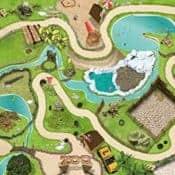 Spielmatte, Spielteppich - Tierpark / Zoo