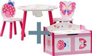 Sitzgarnitur für Mädchen - mit Truhenbank